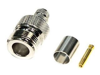 Разъем N-211/f под кабель 5D/FB обжимной.